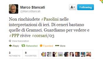 Marco Stancati - Pier Paolo Pasolini